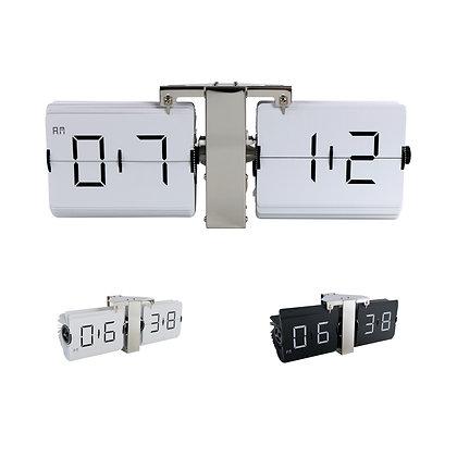 Large Frameless Flip Clock (Silver)