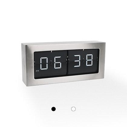 Large Framed Flip Clock (Silver Finish)