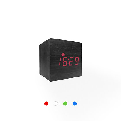 Wood Style Digital Clock WD23-3 Black Finish