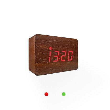 Wood Style Digital Clock WD24-3 Walnut Finish