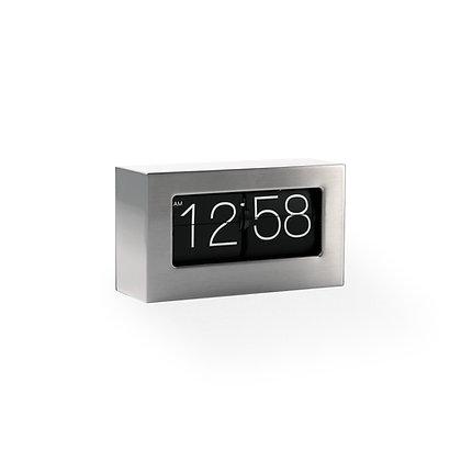 Mid-Sized Framed Flip Clock (Brushed Steel Finish)