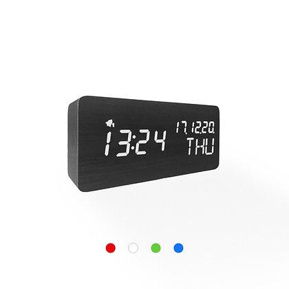 Wood Style Digital Clock WD69-3 Black Finish