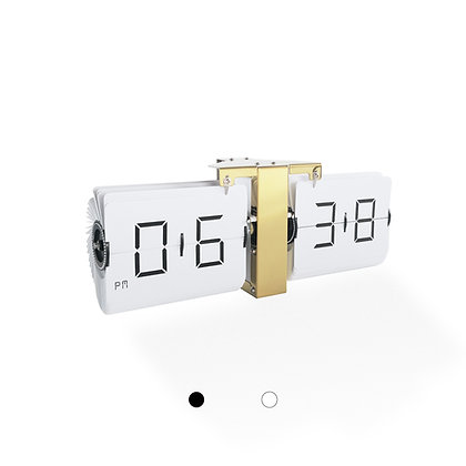 Large Frameless Flip Clock (Gold Finish)
