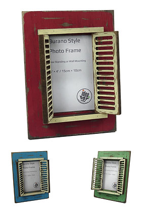 'Burano Style' Photo Frame (Portrait)