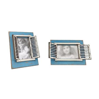 'Burano Style' Photo Frame (Vintage Blue)