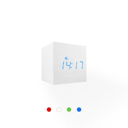 Wood Style Digital Clock WD23-3 White Finish