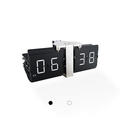 Large Frameless Flip Clock (Silver Finish)