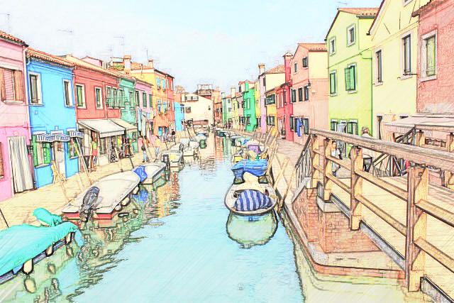 It is where the design idea of Burano Style Photo Frame came from.