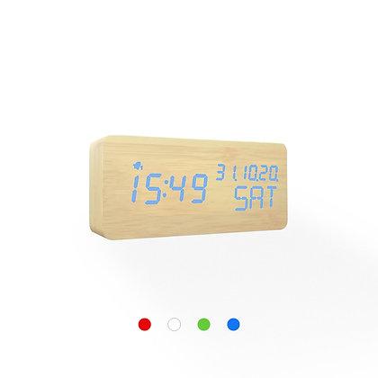 Wood Style Digital Clock WD69-3 Bamboo Finish