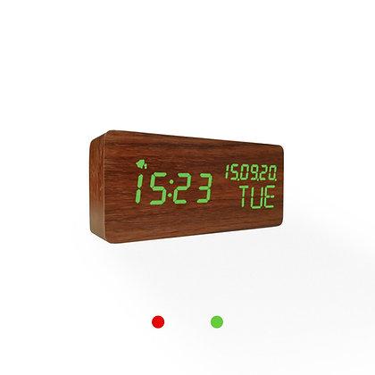 Wood Style Digital Clock WD69-3 Walnut Finish