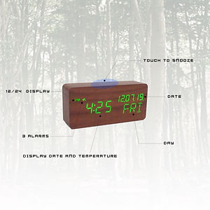 Wood Style Digital Clock Homepage Featur