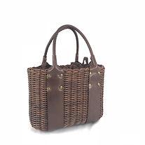 メゾのカゴバッグ, バスケット, leather bag, ラタンと革を使ったトートバッグ, mezzo, 天然素材にこだわったレトロでクラシカルなバッグ, leathe, basket tote, インドネシアのバリ島で手作り
