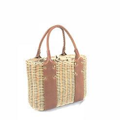 カゴバッグ, leather, 天然素材, インドネシアのバリ島, バスケット, basket, 手作り, handmade, ラタントートバッグ, 革, mezzo, メゾ, coland, センゾートーキョー