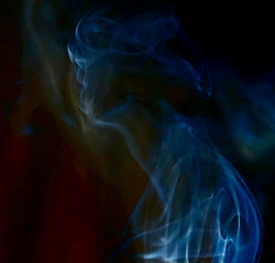 LADY IN A VEIL OF SMOKE
