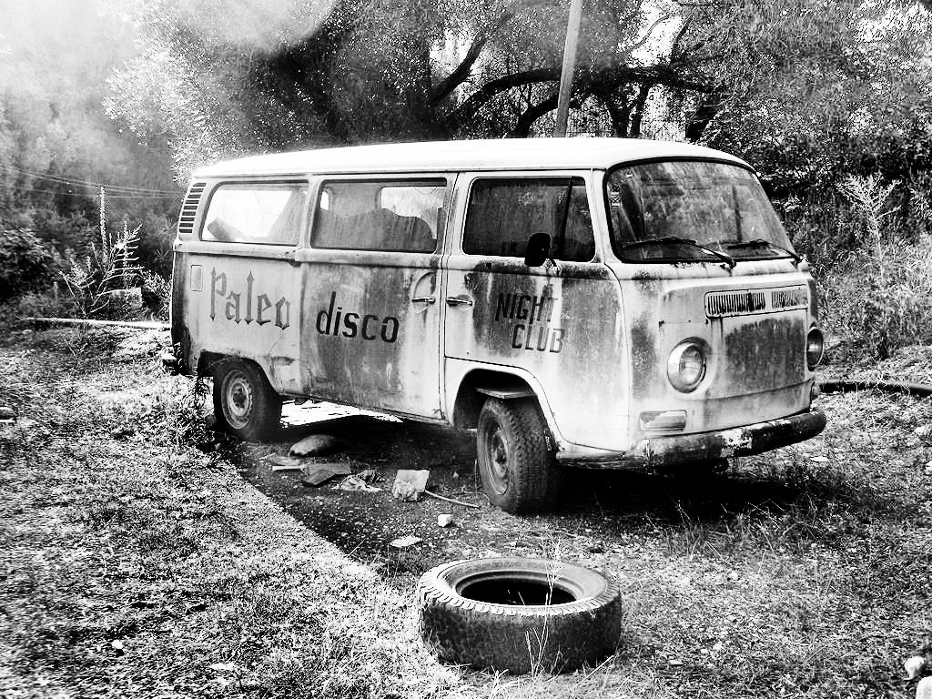 TYRED LOOKING DISCO BUS