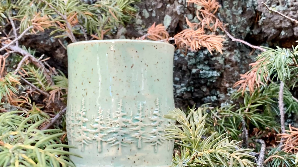 Enchanted Forest Pottery Candle