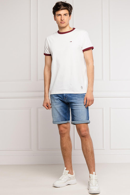 Tommy Jeans- Tee shirt coton logo brodé