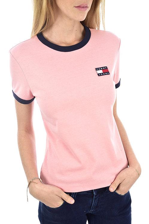 Tommy hilfiger -Tee shirt coton à logo patché - Tommy jeans