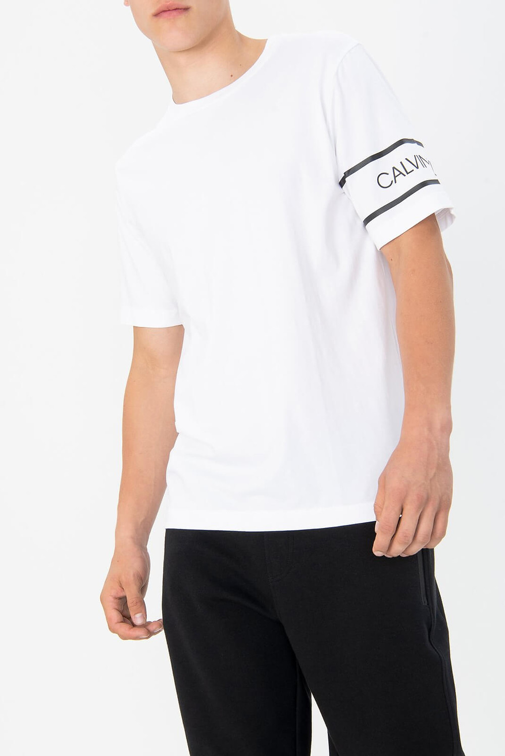 T-shirt Calvin klein blanc Low Cloth's vêtement low cost
