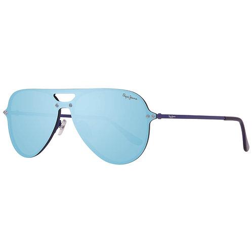 Pepe Jeans- Lunettes de soleil Briggs unisexe Bleu