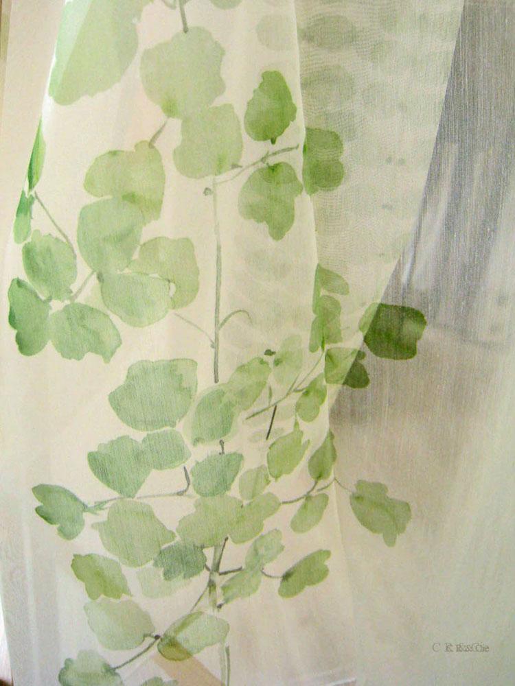Voilage Jab aux branchages verts