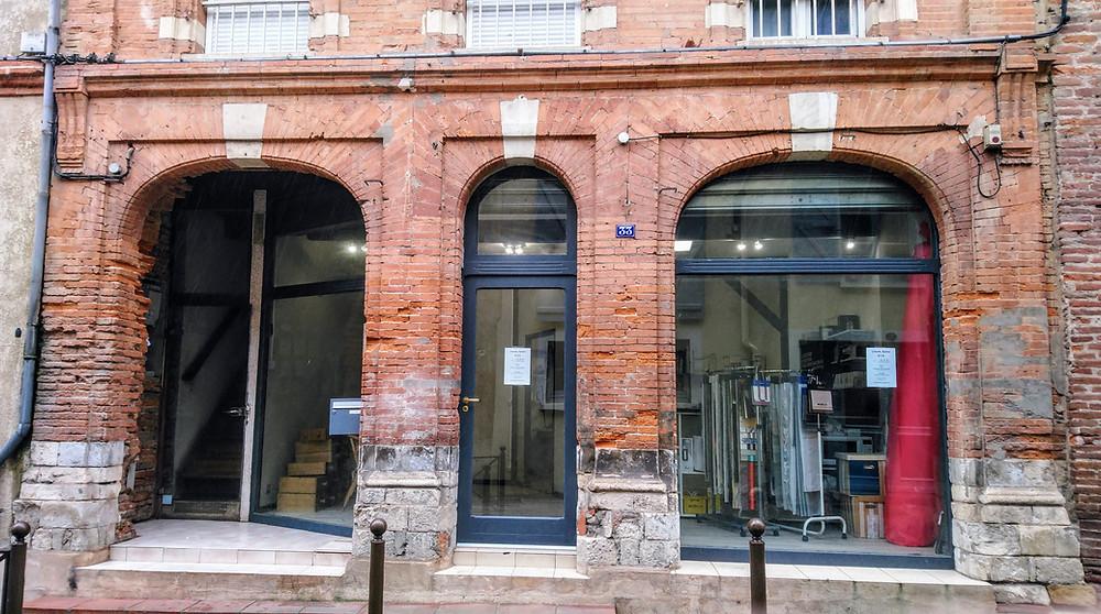 Façade de l'atelier COUSSIN RIDEAU & Cie à Muret