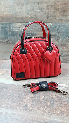 SkinAss BIG BOSS cuir rouge / red leather handbag