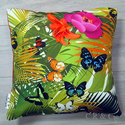 Coussin PAPILLONS COULEURS outdoor