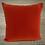 Thumbnail: Coussin de décoration RED LEAVES en velours rouge et violet