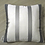Thumbnail: Coussin de décoration CHEVRON RAYÉ à motifs gris et noir