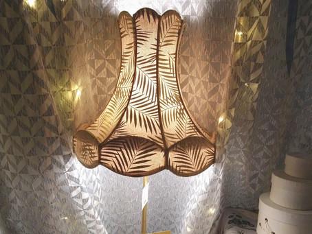 à découvrir chez COUSSIN RIDEAU & Cie : les abats-jour sur mesure créés par l'artisan Marina Wolff