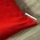 Thumbnail: Coussin de décoration ROUGE CHAT en velours