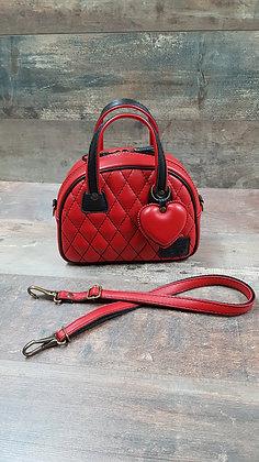 Sac SkinAss mini miss en cuir rouge / red leather minimiss bag
