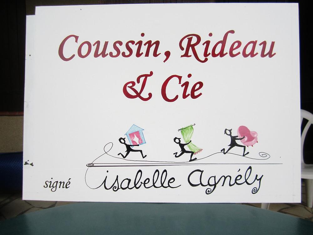 enseigne de Coussin Rideau et Cie