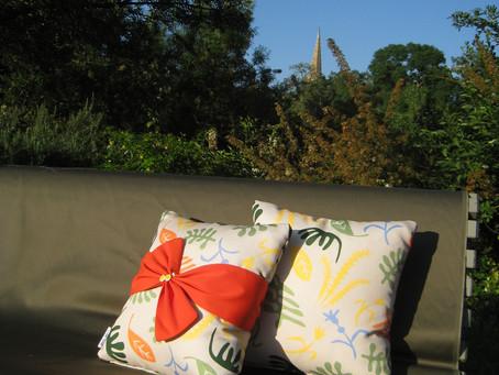 La chaleur revient enfin ... de nouveaux coussins pour votre jardin !