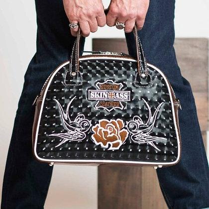 Sac SkinAss marron/hirondelle / brown handbag