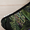 Thumbnail: Coussin de décoration NOIR TROPIQUE, velours passepoilé noir