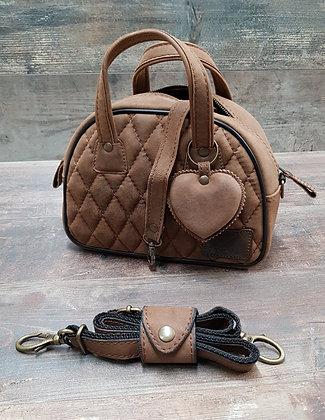 Sac SkinAss MINI MISS en cuir vintage marron / vintage brown leather bag