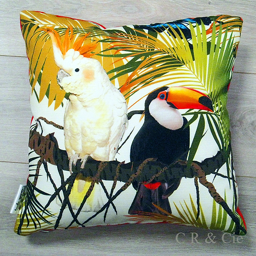 Coussin CACATOES Vs TOUCAN outdoor