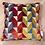 Thumbnail: Coussin de décoration ARLEQUIN en velours de coton multicolore