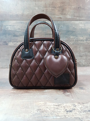 Sac SkinAss MINI MISS en cuir chocolat / chocolate leather MINI MISS bag