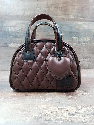 Sac SkinAss MINI MISS en cuir chocolat / chocolate leather MINI MISS bag