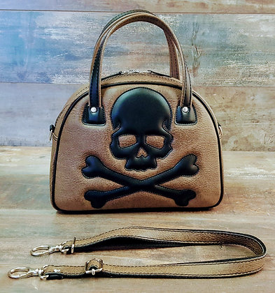 Sac SkinAss marron/skull / brown handbag