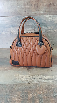 SkinAss BIG BOSS cuir café / coffee leather handbag