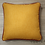 Thumbnail: Coussin de décoration PLAIN MUSTARD, moutarde et framboise passepoilé framboise