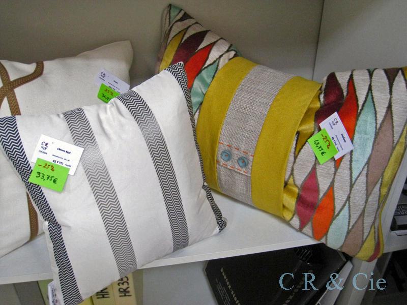Coussins en solde la la boutique de CR&Cie
