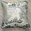 Thumbnail: Coussin de décoration FLEUR CELADON en soie brodée double face