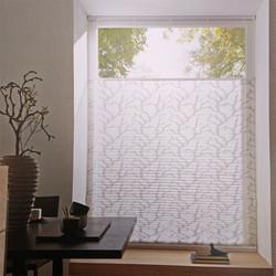 Store plissé à motifs gris