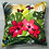 Thumbnail: Coussin HIBISCUS ROSE outdoor