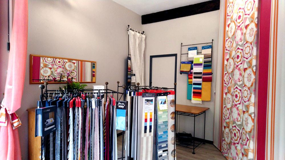 boutique côté parapluies et collections tissu